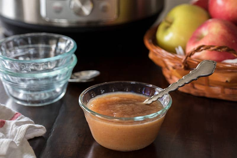 Pressure Cooker Applesauce is a healthy, sweet, delicious snack or dessert.