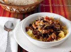 Quick Pressure Cooker Instant Pot) Black Bean and Chicken Sausage Chili