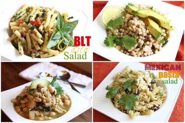 Picture collage of recipes made using shredded chicken