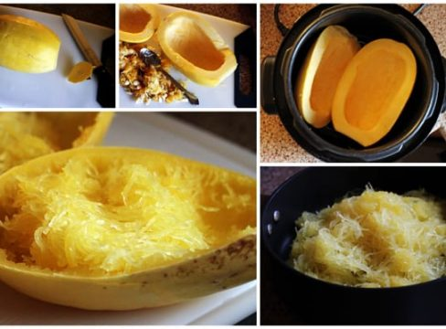 Pressure Cooker (Instant Pot) Spaghetti Squash collage