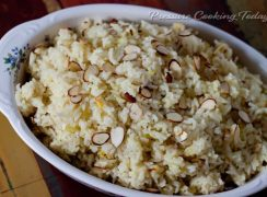 Pressure Cooker (Instant Pot) Saffron Almond Rice Pilaf