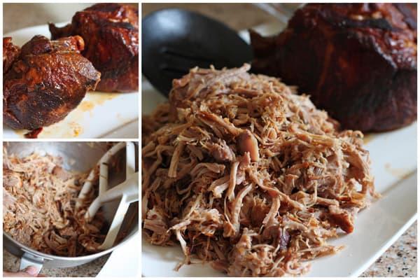 collage of Pressure Cooker Pulled Pork