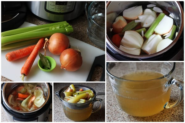 collage of Vegetable-Broth-Directions-Pressure-Cooking-Today