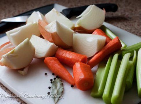 ingredients for Pressure Cooker (Instant Pot) Vegetable Stock