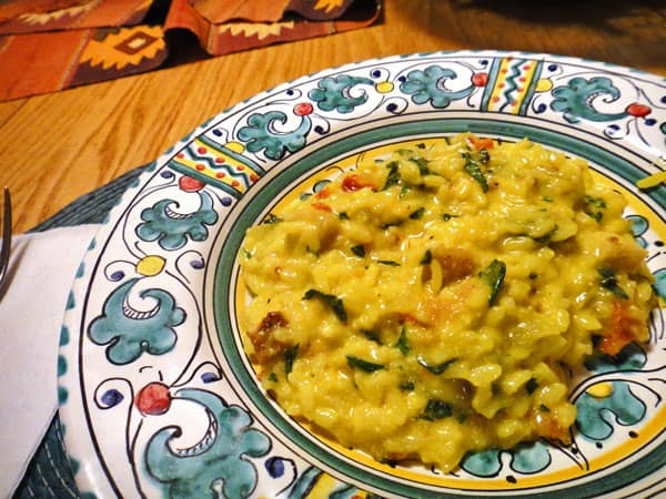 Spinach and goat cheese risottois a creamy rice dish, loaded with flavor. This pressure cooker risotto recipe makes a wonderful side dish or a complete meatless meal.