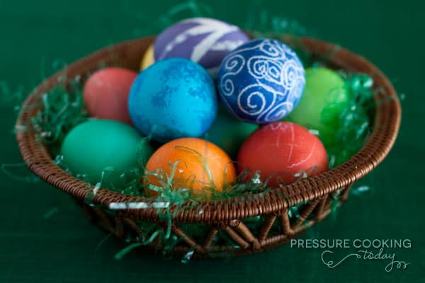 Easter Eggs made in a Pressure Cooker