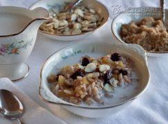 Pressure Cooker (Instant Pot) Apple Cherry Breakfast Risotto