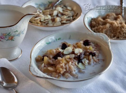Pressure Cooker (Instant Pot) Apple Cherry Breakfast Risotto