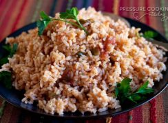close up of Quick and Easy Pressure Cooker (Instant Pot) Spanish Rice
