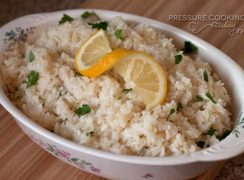 Pressure Cooker (Instant Pot) Lemon Rice