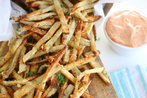 Garlic Parmesean Instant Pot Duo Crisp French Fries