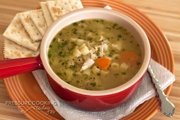 Pressure Cooker (Instant Pot) Chicken Noodle Soup