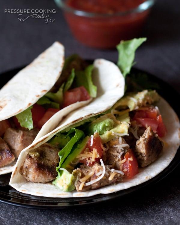 Pork Carnitas Tacos in the Pressure Cooker   PressureCookingToday.com