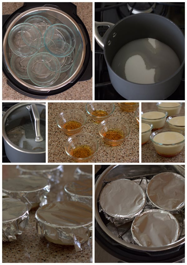 collage on How to make flan in the pressure cooker | Pressure Cooking Today