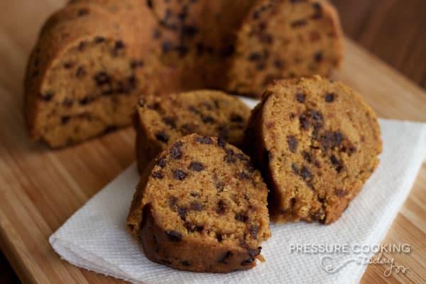 Pumpkin Chocolate Chip Bundt Cake | Pressure Cooking Today