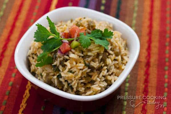 Green Chile Lime Salsa Rice | Pressure Cooking Today
