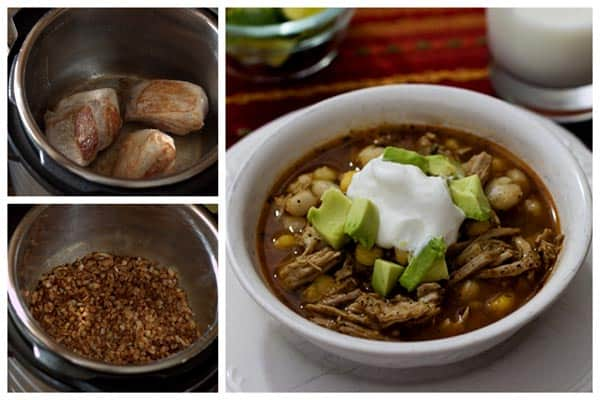 Pork and Hominy Stew Collage | Pressure Cooking Today