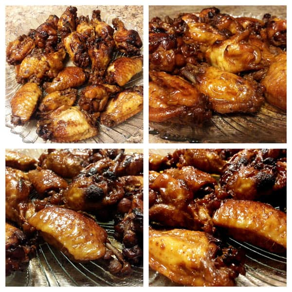 collage of Pressure Cooker (Instant Pot) Teriyaki Chicken Wings