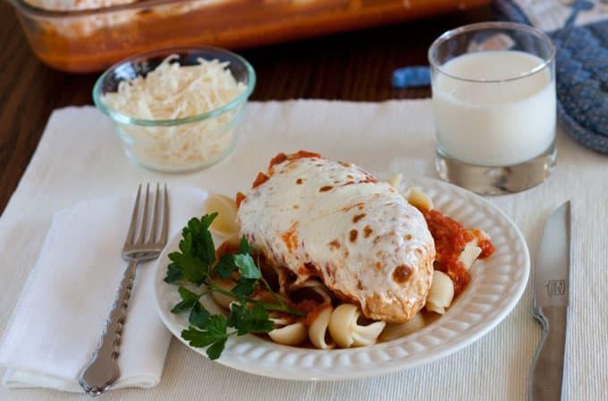 Pressure Cooker (Instant Pot) Marinara Chicken with Melted Mozzarella