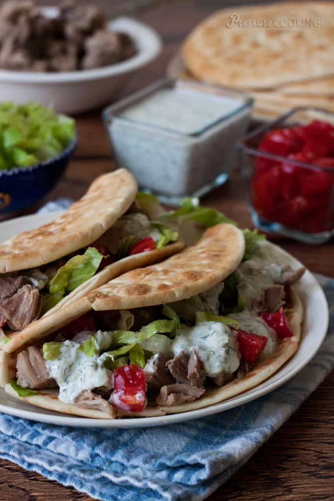 Greek Taco Recipe from Pressure Cooking Today
