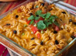 Pressure Cooker (Instant Pot) Chicken Enchilada Pasta