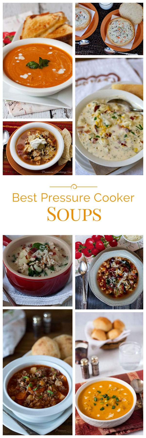 collage of Best-Pressure-Cooker-Soups