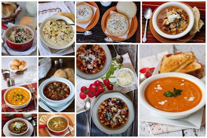 collage of Best-Pressure-Cooker-Soups-Pressure-Cooking-Today