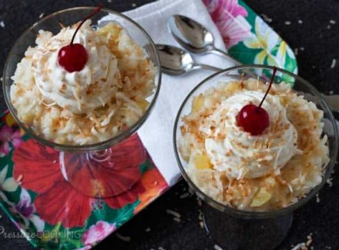 Pressure Cooker(Instant Pot) Pina Colada Rice Pudding