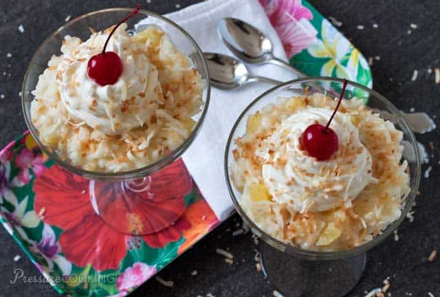 Pina Colada Rice Pudding recipe from Pressure Cooking Today