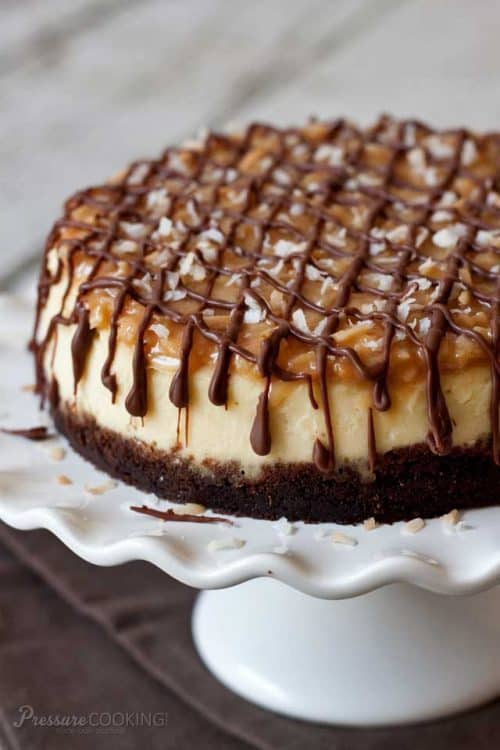 Pressure Cooker / Instant Pot Samoa Cheesecake