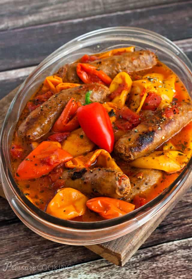 Teri\'s Pressure Cooker Sausage and Peppers recipe on Pressure Cooking Today.
