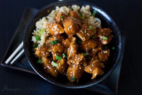 Pressure Cooker (Instant Pot) Honey Sesame Chicken