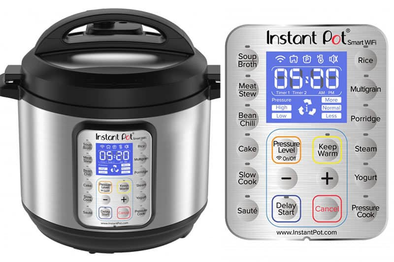 A close up of Instant Pot controls