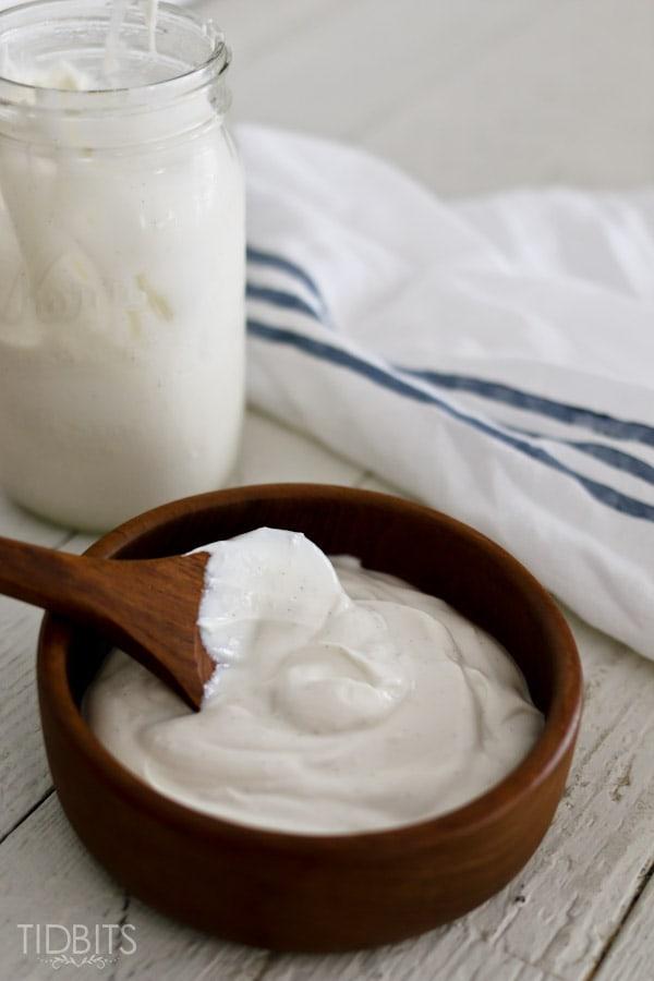 Homemade Yogurt made in a Pressure Cooker
