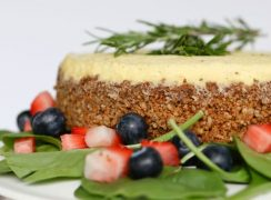 Pressure Cooker (Instant Pot) Blue Cheese Cheesecake with Strawberry Spinach Salad