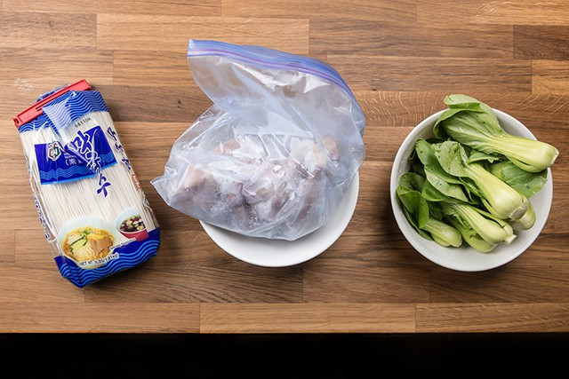 Pressure Cooker Bok Choy Chicken Soup Noodles Ingredients