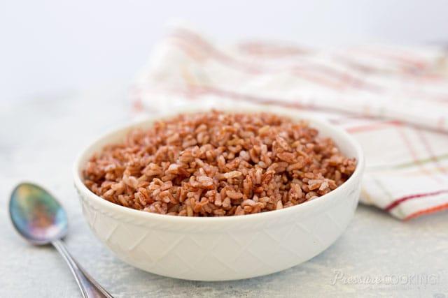 Pressure Cooker (Instant Pot) Pink Rice