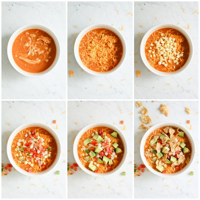 step by step photos for Making Pressure Cooker Creamy Enchilada Soup