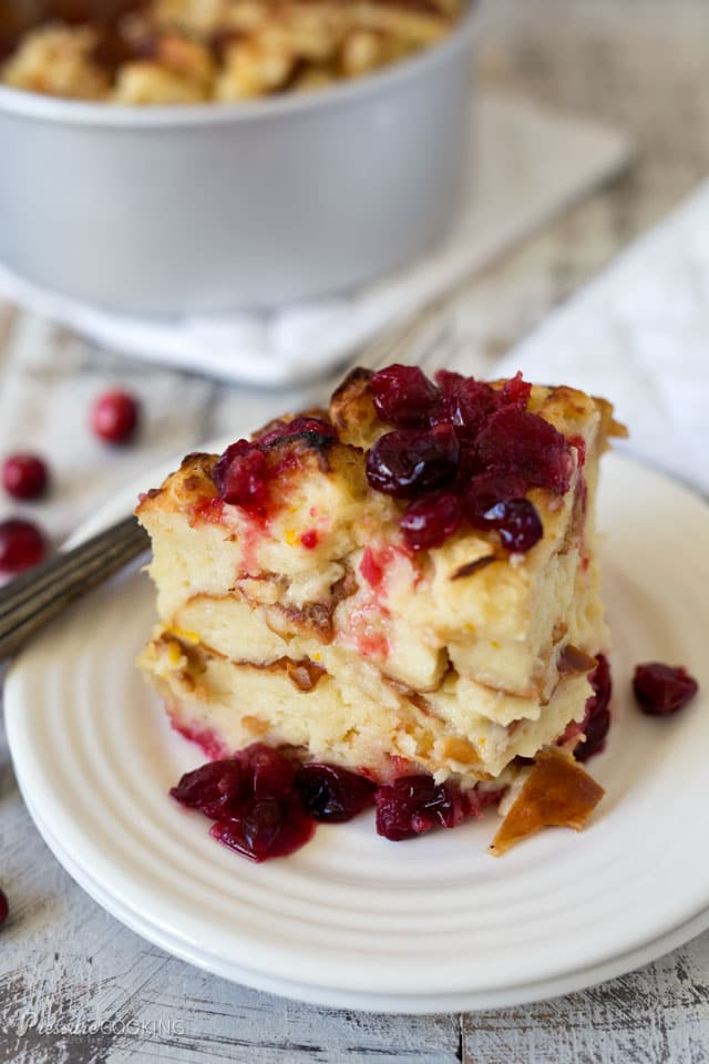 This luscious Pressure Cooker Cranberry Baked French Toast is a perfect holiday breakfast.