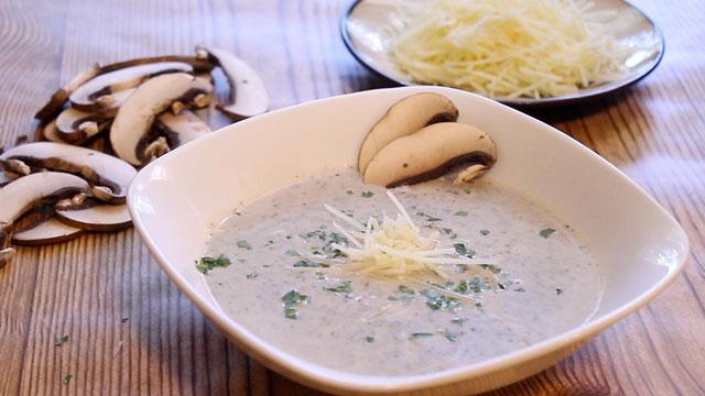 Pressure Cooker (Instant Pot) Mushroom Marsala Soup