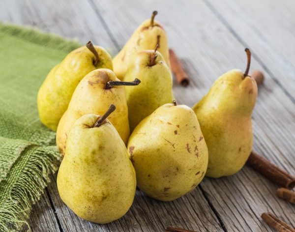 7 fresh Bosc pears