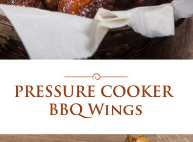 pressure cooker BBQ wings photo collage