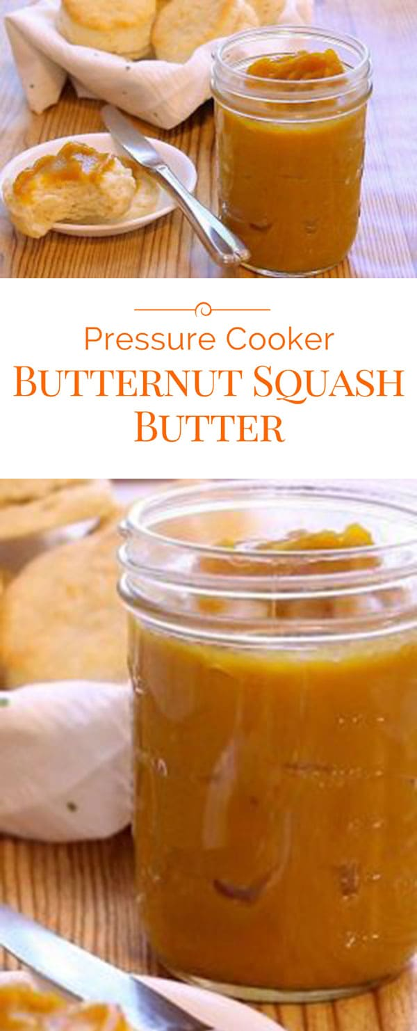 photo collage of Pressure Cooker Butternut Squash Butter