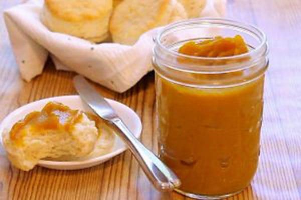 Pressure Cooker (Instant Pot) Butternut Squash Butter in a glass jar