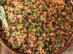 Pressure Cooker (Instant Pot) Wild Rice and Farro Pilaf
