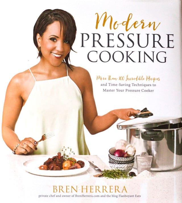cookbook cover - Modern Pressure Cooking by Bren Herrera