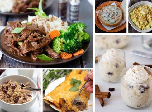 collage of Easy Recipes to make in the Instant Pot, Ninja Foodi, Crockpot Express, or any other brand of electric pressure cooker