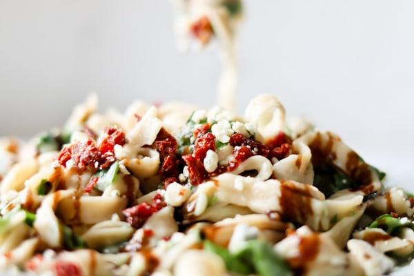 close up photo of Pressure Cooker Cauliflower Fettuccine Alfredo