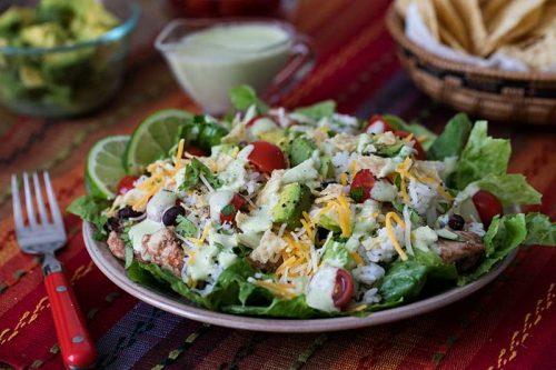 Pressure Cooker (Instant Pot) Cilantro Lime Chicken Taco Salad