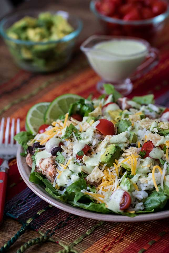 Pressure Cooker Cilantro Lime Chicken Taco Salad is a quick and easy pressure cooker chicken recipe, perfect for the warmer days ahead.